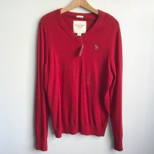 NWT Abercrombie & Fitch V Neck Cashmere Sweater